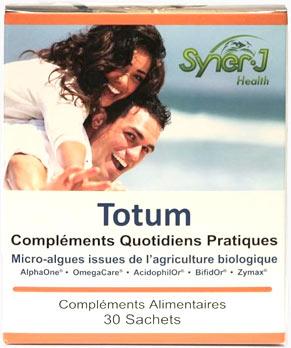 Le Totum : un programme intégral de complémentation, facile et économique, pour vous apporter énergie et prendre soin de votre système digestif. Par le groupe SynerJ-Health, fondé par Jacques Prunier.